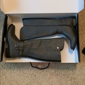 guess brand tall grey boots!